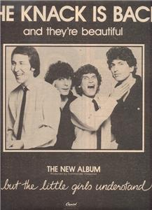 1980 THE KNACK IS BACK POSTER TYPE AD