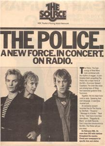 1980 THE POLICE THE SOURCE POSTER TYPE AD