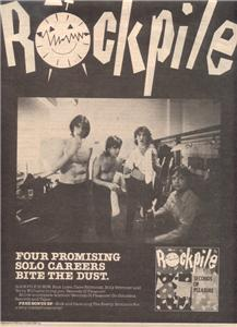 1980 ROCKPILE ROCK PILE POSTER TYPE AD