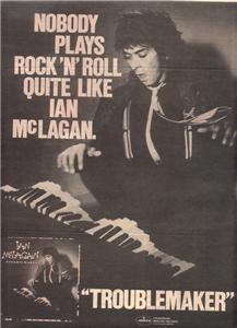 1980 IAN MCLAGAN TROUBLEMAKER POSTER TYPE AD