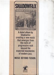 1976 SHADOWFAX WATERCOURSE WAY POSTER TYPE AD