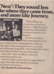 1977 JOURNEY NEXT POSTER TYPE AD