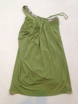 BCBG Dress Womens Size 0 Green Sequins Beads One Shoulder - $17.82