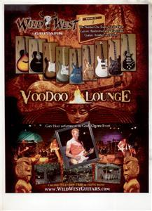 GARY HOEY VOODOO LOUNGE WILD WEST GUITAR AD