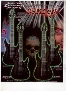 SCHECTER DIAMOND SERIES GUITAR AD DAMIEN COLLECTION