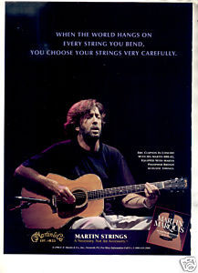 1998 ERIC CLAPTON MARTIN STRINGS AD
