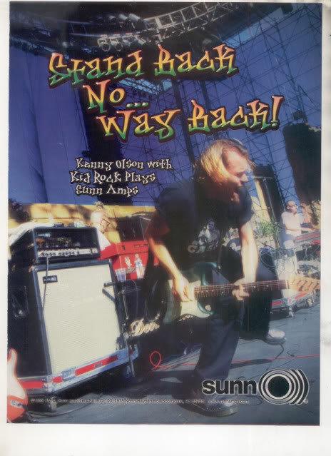 * 1999 KENNY OLSON KID ROCK SUN AMP AD