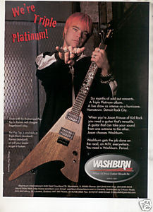 * 1999 JASON KRAUSE KID ROCK WASHBURN GUITAR AD