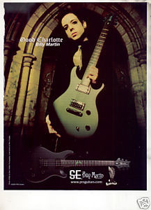 * GOOD CHARLOTTE BILLY MARTIN SE GUITAR AD