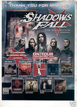 * SHADOWS FALL THE WAR WITHIN TOUR AD - $6.99