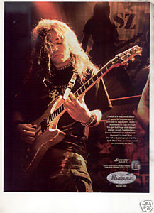 * SHADOWS FALL IBANEZ GUITAR AD