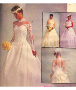 McCalls 8047 Wedding Dress Patern Size10 to 14 Bridesmaid Veil - $16.95