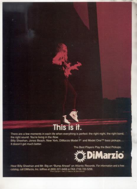 * 1993 BILLY SHEEHAN MR BIG DIMARZIO AD