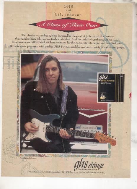 * 1993 ERIC JOHNSON GHS STRINGS AD