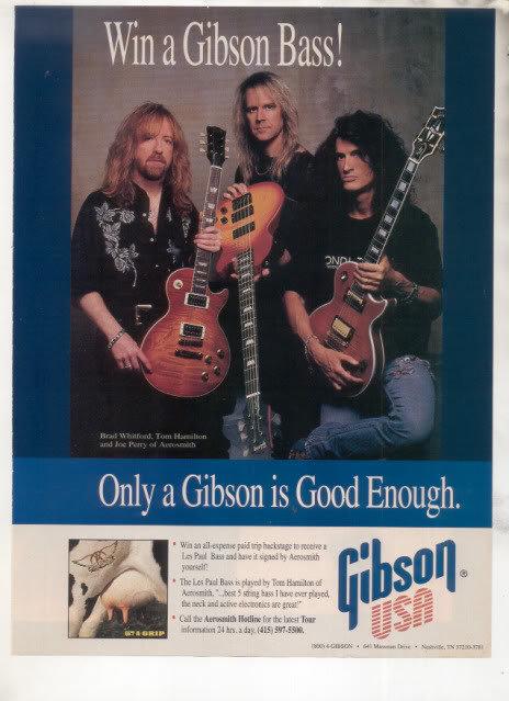 * 1993 AEROSMITH GET A GRIP GIBSON GUITAR AD