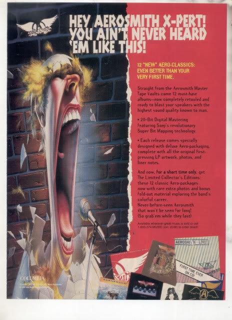 * 1993 AEROSMITH AD