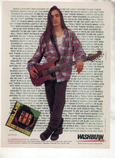 * 1993 EXTREME WASHBURN GUITAR AD