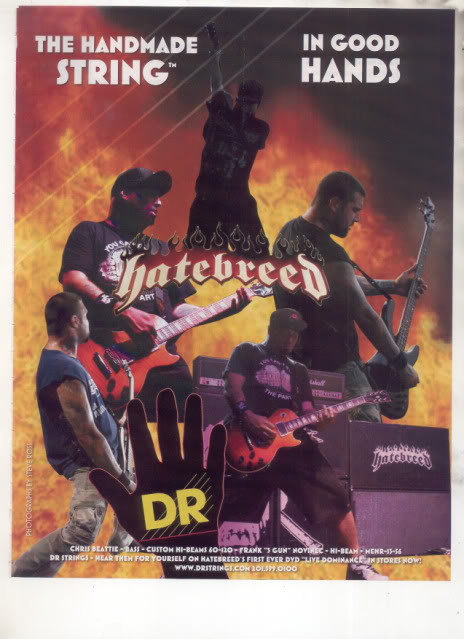 * HATEBREED CHRIS BEATTIE GUITAR AD