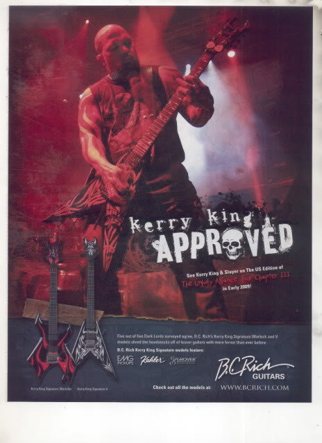 * KERRY KING SLAYER BC RICH GUITAR AD
