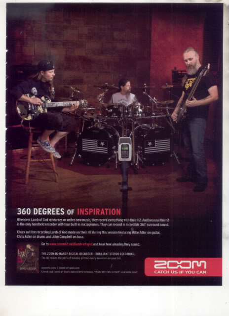 * LAMB OF GOD WILLIE ADLER MARK MORTON AD
