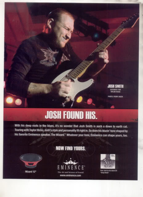 * JOSH SMITH TAYLOR HICKS AD