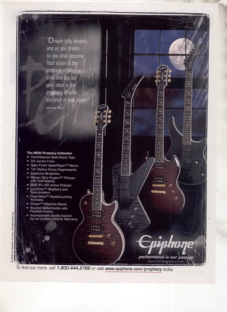 * EPIPHONE PROPHECY COLLECTION GUITAR AD