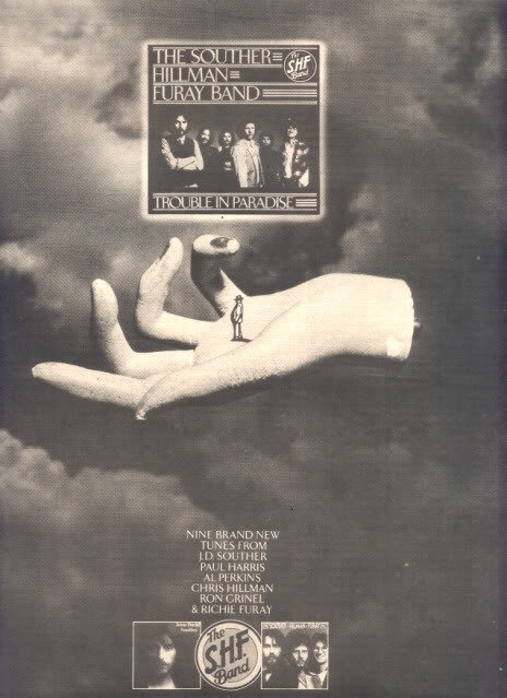 1975 THE SOUTHER HILLMAN FURAY BAND POSTER TYPE AD
