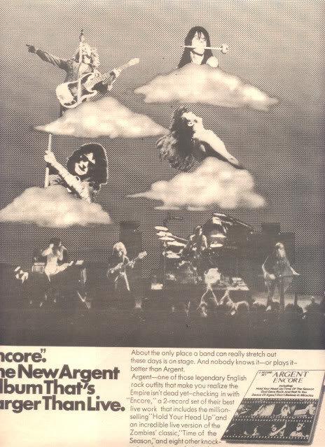 1975 ARGENT ENCORE POSTER TYPE AD