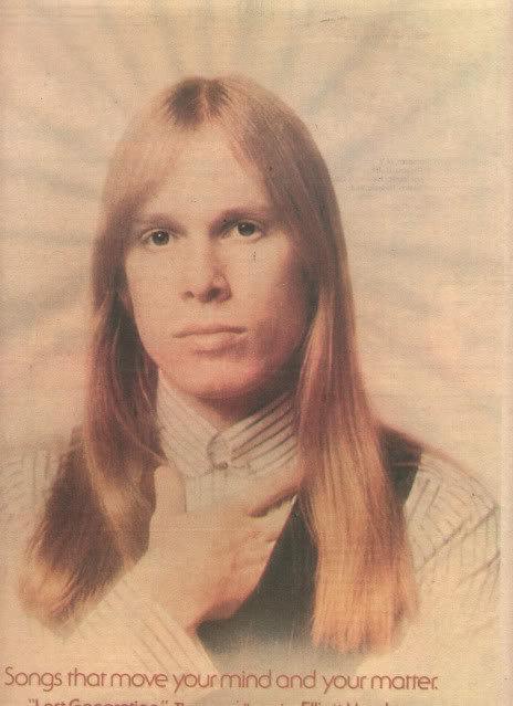 1975 ELLIOTT MURPHY LOST GENERATION POSTER TYPE AD