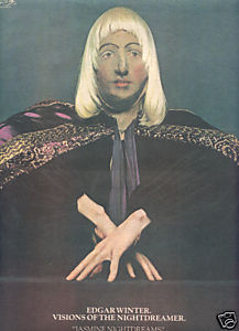 1975 EDGAR WINTER VISIONS OF NIGHTDREAM POSTER TYPE AD