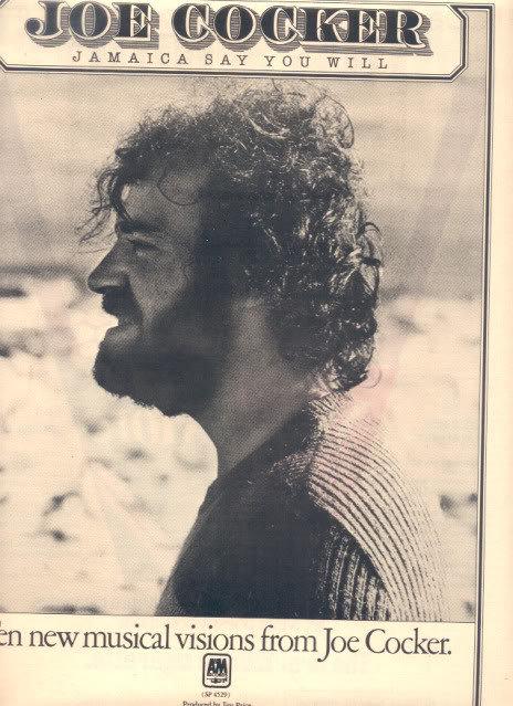 1975 JOE COCKER JAMAICA SAY YOU WILL PROMO AD