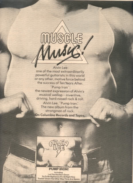 1975 ALVIN LEE PUMP IRON POSTER TYPE AD