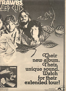 1976 STRAWBS DEEP CUTS POSTER TYPE AD