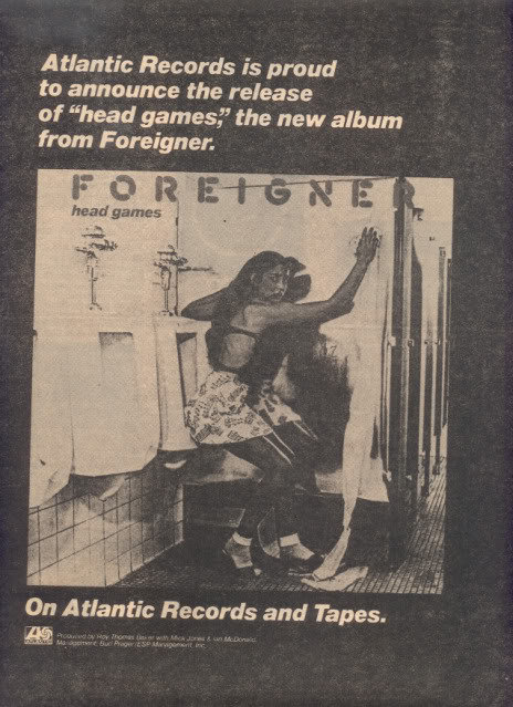 1979 FOREIGNER HEAD GAMES POSTER TYPE AD