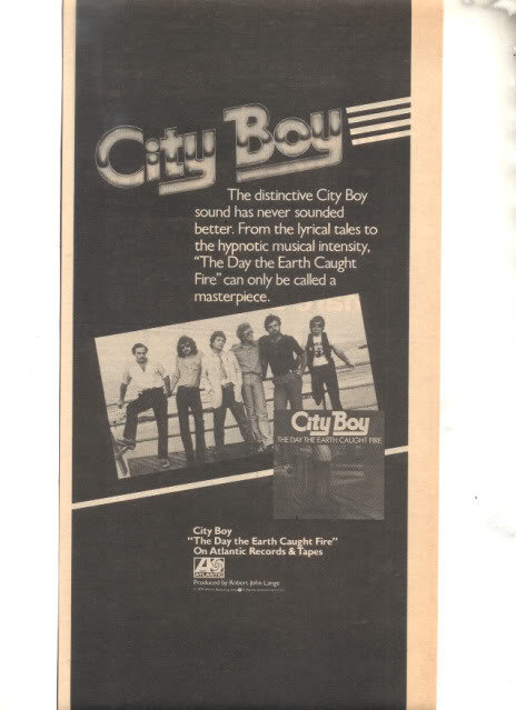1979 CITY BOY THE DAY THE EARTH CAUGHT FIRE PROMO AD