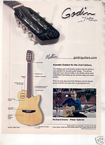 * RICHARD EVANS GODIN MULTIAC GUITAR AD