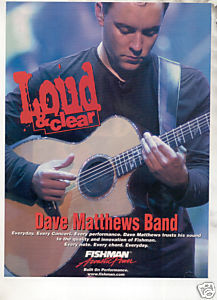 * DAVE MATHEWS FISHMAN GUITAR AD
