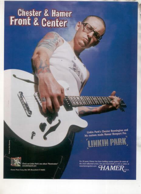 * LINKIN PARK CHESTER BENNINGTON HAMER GUITAR AD