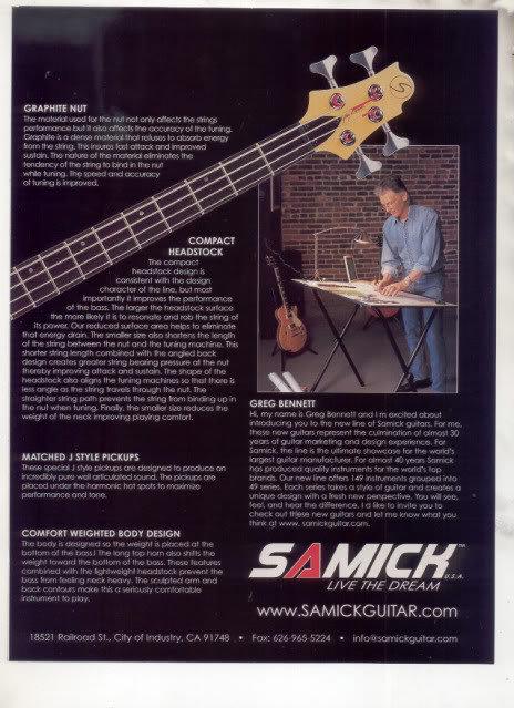 * SAMICK FAIRLANE GUITAR AD FN 4 VS GREG BENNETT 2-PAGE