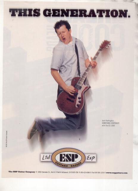 * JOSH PARTINGTON ESP EC-1000 GUITAR AD