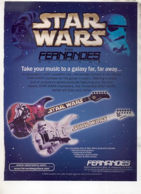 * STAR WARS FERNANDES GUITAR AD