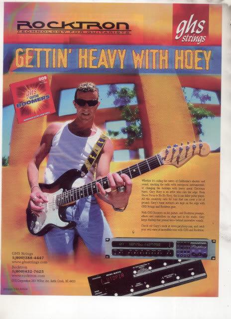 * GARY HOEY GHS GUITAR STRINGS AD