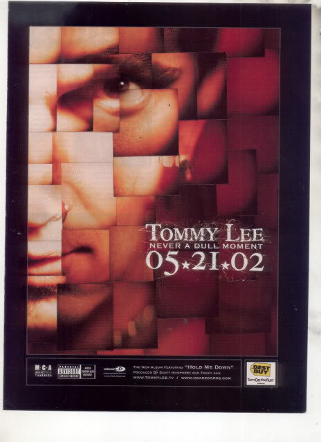 * TOMMY LEE MOTLEY CREW NEVER A DULL MOMENT AD
