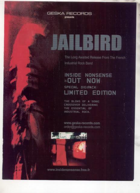 * JAILBIRD INSIDE NONSENSE PROMO AD