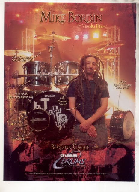 * MIKE BORDIN OZZY YAMAHA DRUMS AD