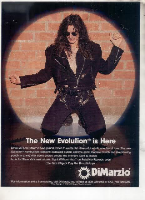 * 1993 STEVE VAI DIMARZIO GUITAR AD