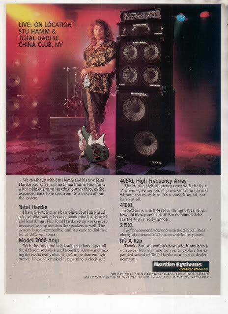* 1993 STU HAMM HARTKE AMP AD