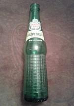 Vintage 1964 Canada Dry Grapefruit Beverage 10 oz. Green Glass Soda Bottle - $6.93