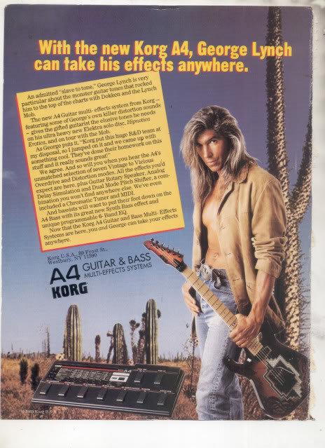 * 1993 GEORGE LYNCH KORG EFFECTS BOARD AD