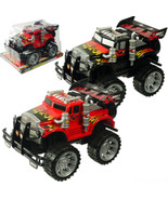 Two Piece Set Friction Powered Trucks Big Wheel Monster Semi Truck. Toy 29 - $18.80
